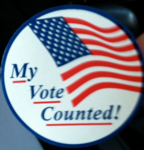 2012 Election Sticker. Whoop!